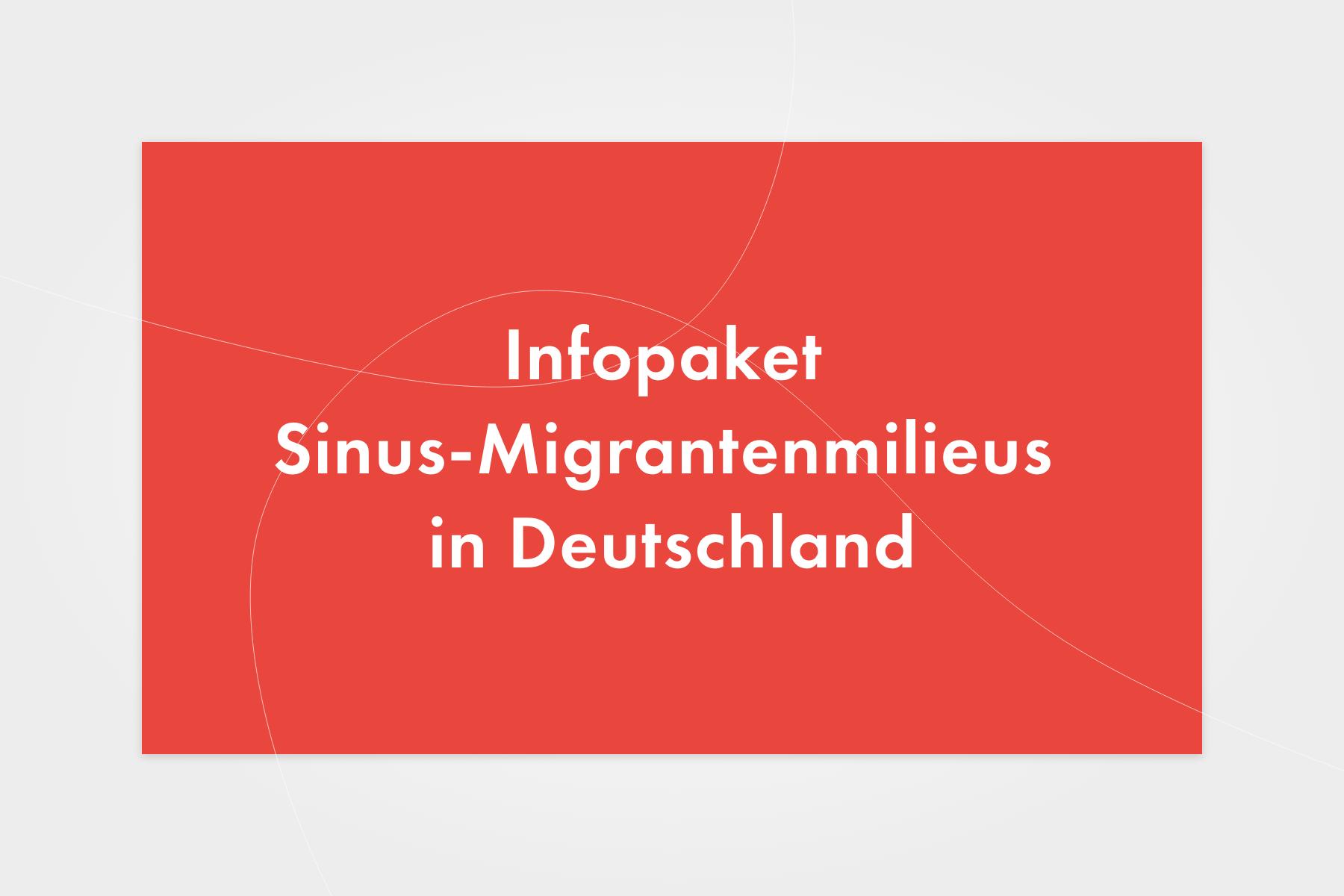 Sinus Infopaket Sinus-Migrantenmilieus in Deutschland
