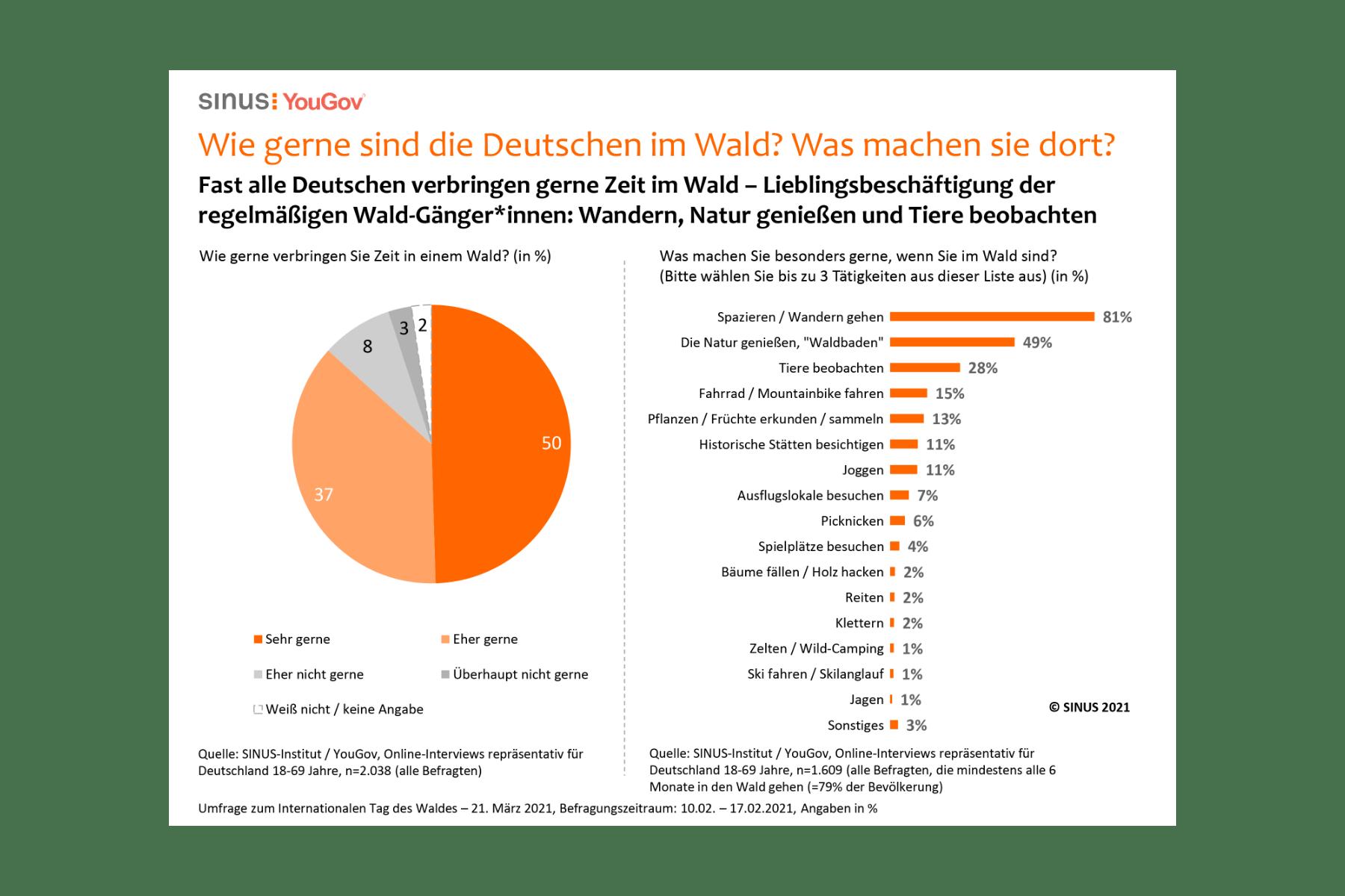 Grafik: Wie gerne sind die Deutschen im Wald?